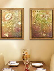 economico -Floreale/Botanical Vintage Tele con cornice Set con cornice Decorazioni da parete,PVC Materiale con cornice For Decorazioni per la casa