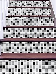 Недорогие -Абстракция Геометрия Наклейки 3D наклейки Люди стены стикеры Декоративные наклейки на стены, Винил Бумага Украшение дома Наклейка на стену