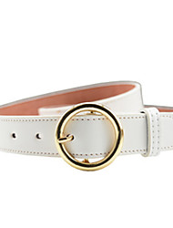 cheap -Women's Wide Belt,Casual Solid