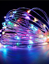 cheap -1PCS HKV® 3M 30 LED 3 x AA Battery  Copper Wire Fairy String Light Wedding Party Decoration LED String Lights (No batteries)