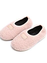 Недорогие -Девочки обувь Ткань Хлопок Зима Флисовая подкладка Мокасины Удобная обувь Мокасины и Свитер для Повседневные на открытом воздухе Черный