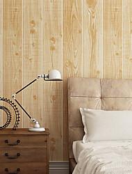abordables -Fibra de Madera Fondo de pantalla Para el hogar Moderno Revestimiento de pared , PVC/Vinilo Material adhesiva requerida papel pintado ,