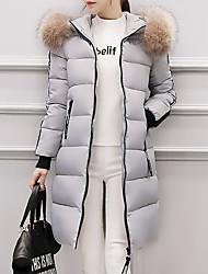 economico -Piumino Da donna,Cappotto Semplice Casual Monocolore Piume Manica lunga