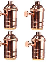 cheap -4 Pcs E26/ E27 Industrial Light Socket Vintage Edison Pendant lamp Metal holder With Knob switch