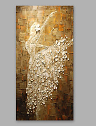 Hand-Painted People Vertical,Modern One Panel Canvas Oil Painting For Home Decoration