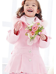 cheap -Girls' Solid Trench Coat Blushing Pink