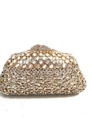 cheap -Women's Bags Glasses / Metal Evening Bag Crystals for Wedding / Event / Party Gold