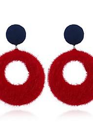 baratos -Mulheres Brincos Compridos - Vintage Cinzento / Vermelho / Azul Marinho Escuro Para Festa / Diário