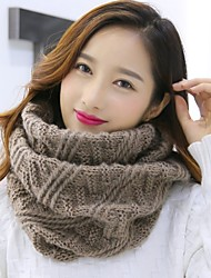 cheap -Women's Knitwear Infinity Scarf Solid Fall Winter
