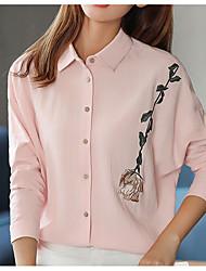 economico -T-shirt Per donna Con stampe Colletto - Cotone