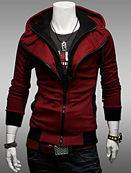 cheap -Men's Daily Hoodie Solid Hooded Micro-elastic Cotton Long Sleeves All Seasons
