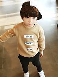 cheap -Boys' Solid Sports and Outdoors Clothing Set,Cotton Winter Fall Long Sleeves Casual Chinoiserie Camel