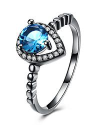 preiswerte -Damen Kristall Zirkon / Aleación Bandring - Kreisform Einfach / Modisch Purpur / Blau Ring Für Hochzeit / Party / Geburtstag