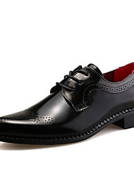 British Style Men's Geuine leather Business Shoes Brogue Pointed toe Slip on Oxfords Shoes