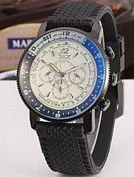 abordables -Jaragar Hombre Reloj de Pulsera Reloj Casual Reloj de Moda Reloj de Vestir Cuerda Automática Caucho Banda Casual Cool