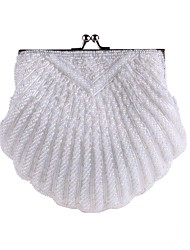 cheap -Women's Bags Polyester Evening Bag Beading / Pearls White / Black / Wedding Bags