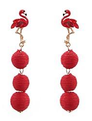 Недорогие -Жен. Гипоаллергенный Серьги-слезки Серьги-кольца - На каждый день Секси Массивный Гипоаллергенный Мода Красный Круглый Серьги Назначение