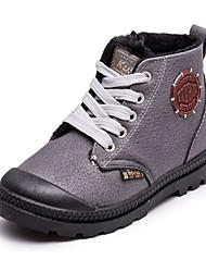 Недорогие -Мальчики обувь Полиуретан Зима Осень Армейские ботинки Удобная обувь Ботинки для Повседневные Черный Серый Красный