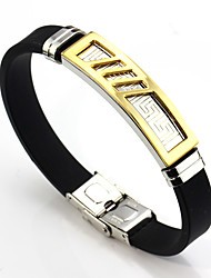cheap -Men's Women's Link Bracelet , Basic Leather Stainless Line Jewelry Daily Costume Jewelry