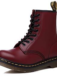 Недорогие -Для мужчин обувь Полиуретан Весна Осень Удобная обувь Ботинки для Черный Вино