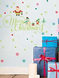 Natal Adesivos de Parede Decalques Autocolantes de Parede Decorativos,Tecido á Prova-de-Água Material Decoração para casa Decalque