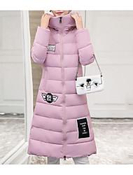 Dámské S vycpávkou Sofistikované Běžné/Denní Tisk-Kabát Polyester Dlouhý rukáv