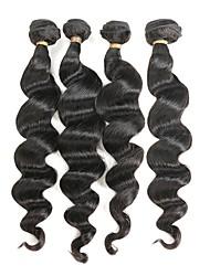 Недорогие -4 Связки Бразильские волосы Свободные волны Remy Человека ткет Волосы Ткет человеческих волос Расширения человеческих волос