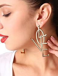 cheap -Women's Dangle Earrings Jewelry Personalized Oversized Euramerican Inspirational Fashion Alloy Alphabet Shape Jewelry Party Special