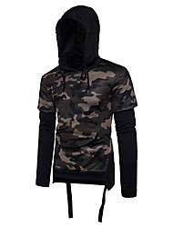 cheap -Men's Sports Simple Long Sleeves Hoodie - Camouflage Hooded