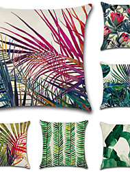 Недорогие -набор из 6 моды тропических тропических лесов завод печати наволочки случае ботанические подушки крышка 45 * 45 см диван подушка покрытие