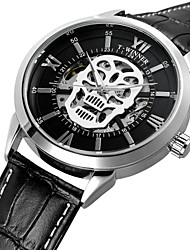 cheap -WINNER Men's Wrist watch Dress Watch Fashion Watch Automatic self-winding Water Resistant / Water Proof Hollow Engraving Skull Genuine