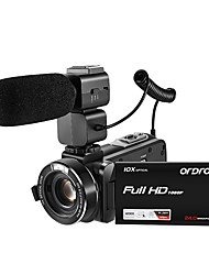 ORDRO HDV-Z82 10X Optical Zoom Camcorder With External MIC 1080P FULL HD 24MP