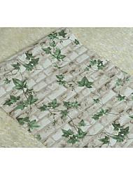 arbres/Feuilles Fond d'écran pour la maison Moderne Revêtement , PVC/Vinyl Matériel adhésif requis fond d'écran , Couvre Mur Chambre
