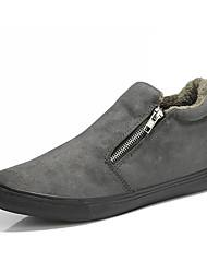 Herrer Sko Fløjl Vinter Forår Komfort Fluff Foder Sneakers Støvletter Til Afslappet Sort Mørkeblå Mørkegrå Army Grøn
