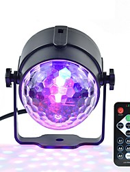 1pcs Mini RGB 3W Crystal Magic Ball Led Stage Lamp DJ KTV Disco Laser Light Party Lights Sound IR Remote Control Christmas Projector AC100-240V