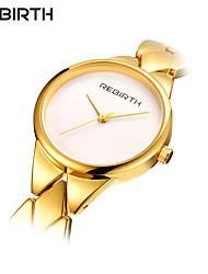 Недорогие -REBIRTH Жен. Наручные часы Кварцевый 30 m Защита от влаги Нержавеющая сталь Группа Аналоговый На каждый день Мода Элегантный стиль Серебристый металл / Золотистый / Розовое золото -