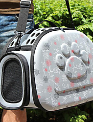 Gato Cachorro Tranportadoras e Malas Animais de Estimação Transportadores Respirável Amor Cinzento Rosa claro