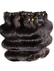 cheap -Brazilian Hair Body Wave Natural Color Hair Weaves Human Hair Weaves Natural Black Human Hair Extensions