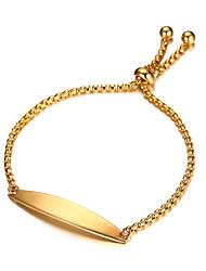 Недорогие -Жен. Позолота Браслет - Elegant Золотой Браслеты Назначение Свадьба Повседневные