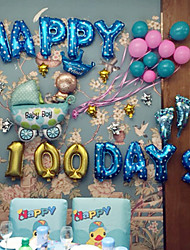 abordables -16 pulgadas - happy boy boy 100day balloons set beter gifts® birthday supplies
