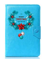 Недорогие -универсальный рождественский дизайн pu кожаный чехол для стенда для 7-дюймового 8-дюймового 9-дюймового 10-дюймового планшетного ПК