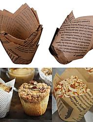 economico -Strumenti Bakeware Legno Cucina creativa Gadget per Candy per la torta Torta Cupcake Biscotti Pane Cottura di matite e fodere