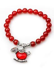 cheap -Women's Onyx Strand Bracelet - Animals Vintage Circle Red Bracelet For Gift Date