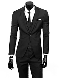 cheap -Men's Business Formal Slim Suits-Solid Colored,Basic
