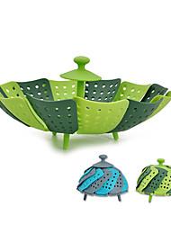творческий пластик складной корзина фруктов для фруктов овощи коробка для хранения домашняя кухня спецодежда инструмент случайный цвет