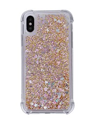 cheap -Case For Apple iPhone X iPhone 8 Shockproof Flowing Liquid Back Cover Glitter Shine Soft TPU for iPhone X iPhone 8 Plus iPhone 8 iPhone 7