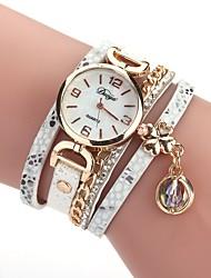abordables -Mujer Reloj Casual Reloj Pulsera Simulado Diamante Reloj Chino Cuarzo La imitación de diamante PU Banda Vintage Casual Bohemio Negro