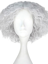 cheap -Synthetic Wig Kinky Curly Gray Men's Capless Carnival Wig Halloween Wig Party Wig Lolita Wig Natural Wigs Cosplay Wig Short Synthetic Hair