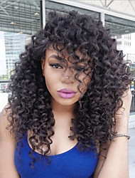 cheap -Human Hair Full Lace Wig Brazilian Hair Kinky Curly Layered Haircut Bob Haircut With Baby Hair 150% Density Unprocessed 100% Virgin