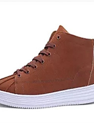 cheap -Men's Shoes Leather Winter Comfort Snow Boots Boots Walking Shoes Lace-up For Casual Camel Light Coffee Light Brown